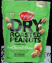 Nutisal Dry roasted Peanuts 200g Sourcream maapähkinöitä