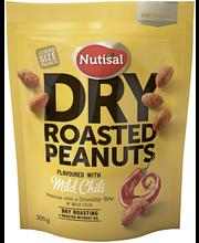 Nutisal Dry Roasted Peanuts 200g Mild Chili maapähkinöitä