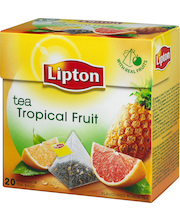 Lipton 20ps Tropical Fruit pyramidi musta tee