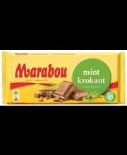 Marabou 200g Mintkrokant, Mintunmakuista maitosuklaata ja krokanttia (20%)