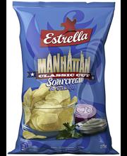 Estrella 275g Manhattan sileä Sourcream&onion chips