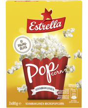 Estrella 240g micropopcorn 3-pack voinmakuinen