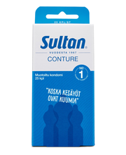 Sultan Conture 25kpl muotoiltu kondomi