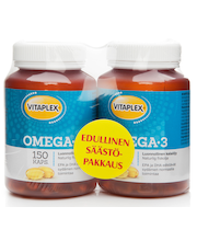 Vitaplex 2x150kaps Omega-3 tuplapakkaus kalaöljyvalmiste