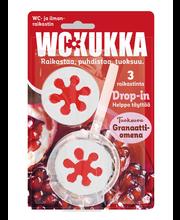 WC Kukka 3x45g Drop-In Granaattiomena wc- ja ilmanraikastin