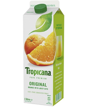 Tropicana 1l orange juice with bits appelsiinitäysmehu hedelmälihalla
