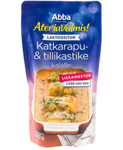 Abba AteriaValmis 250g laktoositon katkarapu- ja tillikastike kalalle