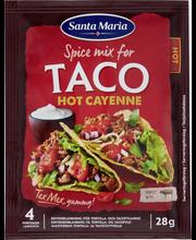 Santa Maria 28g Tex Mex Taco Spice Mix Hot Cayenne -mausteseos