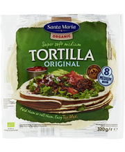 Santa Maria 320g Tex Mex Organic Wheat Tortilla - luomuvehnätortilla