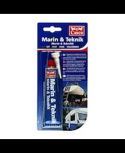 Casco Marin&Teknik saumamassa/-liima 40 ml valkoinen