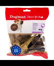 Dogman 150g Lammasmix luonnollinen puruluu koirille lampaan kuivatusta nahasta, keuhkosta ja pötsistä