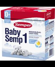 Semper BabySemp1 500g jauhe maitopohjainen äidinmaidonkorvike syntymästä alkaen
