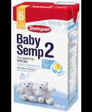 Semper BabySemp2 500ml käyttövalmis maitopohjainen vieroitusvalmiste alkaen 6kk