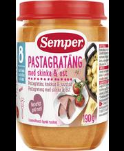 Semper 190g Pastagratiinia, kinkkua ja juustoa alkaen 8 kk ateria