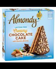 Almondy 380g Laktoositon suklaakakku paahdetuilla manteleilla
