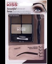 Kiss Beautiful Brow Kit tuotesetti kulmakarvoille