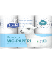 WC-paperi 6 rl kuvioitu