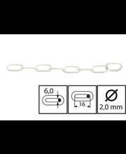Koristeketju 100-11 valkoinen 2m