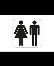 WC-kyltti miehet/naiset 80x80 mm