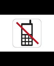 Puhelimen käyttö kielletty-kyltti