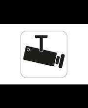 Videovalvonta-kyltti 80x80 mm