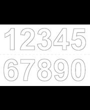 Numero vinyyli 0-9 x2 250 mm valk