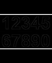 Numero vinyyli  0-9x2 50 mm musta