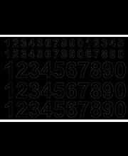 Numero vinyyli 0-9x3 13/26 mm musta