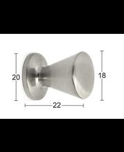 Nuppi Billy 18mm harjattu nikkeli