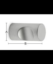 Nuppi Isac 12mm mattakromi