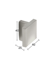 Nuppi Joey 40mm harjattu nikkeli