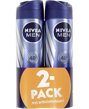 NIVEA MEN 2x150ml Cool Kick Deo Spray antiperspirantti tuplapakkaus