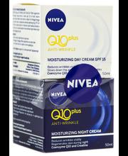 NIVEA 2x50ml Q10plus Anti-Wrinkle päivävoide sk 15 + yövoide