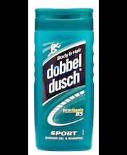 Dobbeldusch 250ml Sport Shower Gel & Shampoo -suihkusaippua