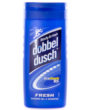 Dobbeldusch 250ml Fresh Shower Gel & Shampoo -suihkusaippua