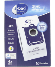 Electrolux s-bag pölypussi E201S 4kpl Classic Long Performance
