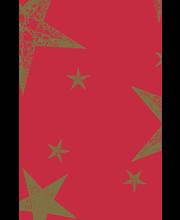 Duni Dunicel 138x220cm My Star punainen pöytäliina