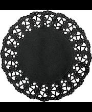 Duni 12kpl 30cm musta kakkupaperi