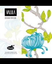 Duni Vallila 20kpl 24cm 3-krs Sydänkäpy sininen lautasliina