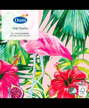 Duni 20kpl 24cm 3-krs Aloha Floral lautasliina