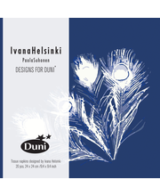 Duni Ivana Helsinki 3-krs lautasliina Velvet Lake 24cm 20kpl