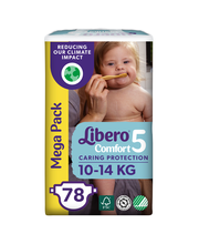 Libero Comfort teippivaippa koko 5, 10-14 kg, 78 kpl