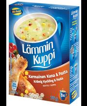 Blå Band 3x25g Lämmin Kuppi kermainen kana-pastakeitto