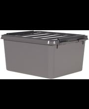Orthex SmartStore Recycled 2 kannellinen säilytyslaatikko harmaa