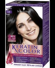 Schwarzkopf Keratin Color 1.0 Black hiusväri