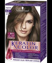 Schwarzkopf Keratin Color 6.0 Vaalean ruskea hiusväri