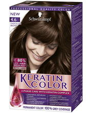 Schwarzkopf Keratin Color 4.6 Suklaan Ruskea hiusväri