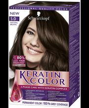 Schwarzkopf Keratin Color 5.0 Luonnollisen ruskea hiusväri