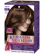 Schwarzkopf Keratin Color 6.5 Light Golden Brown hiusväri