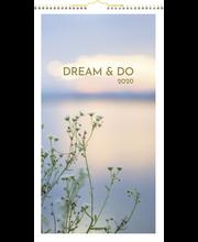 Seinäkalenteri 2020 Dream & Do 250 x 450 mm Burde